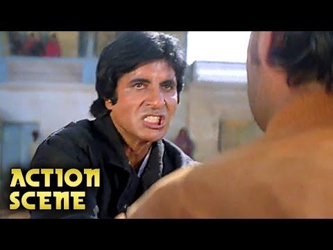 Amitabh Bachchan & Kiran Kumar Fight   Action Scene   Aaj Ka Arjun   Amitabh, Jaya Prada   HD