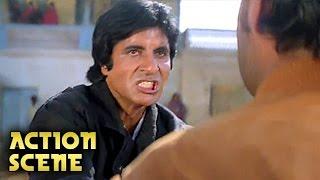 Amitabh Bachchan & Kiran Kumar Fight , Action Scene , Aaj Ka Arjun , Amitabh, Jaya Prada , HD