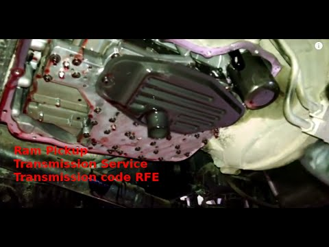 Transmission filter replacement 2014 Ram 3500 HD pickup pan how to remove  or install