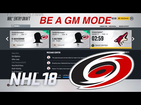 Getting Depth (NHL 18 Be a GM)