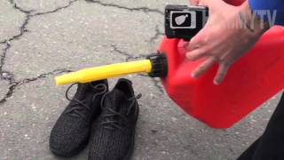 Yeezy 350 Boosts EXPLODED Prank (Sneaker Head Goes MENTAL)