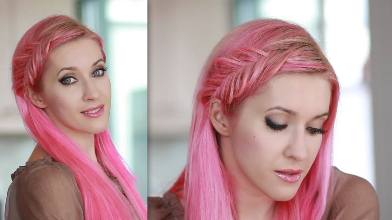 Inside Out French Fishtail Braid Tutorial Everyday