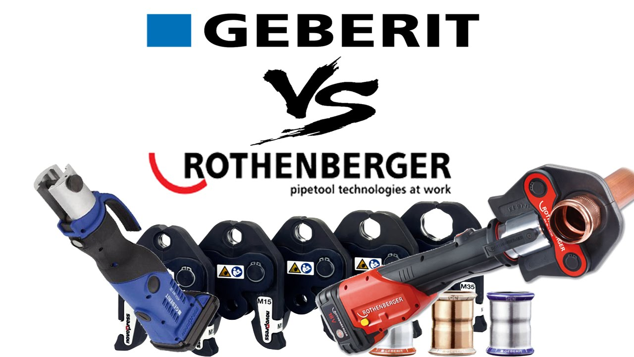 Press tool comparison Geberit ACO202 vs  Rothenberger Romax 3000 crimping  tool
