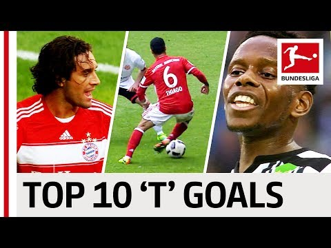 "Thiago, Toni & Traoré - Top 10 Goals - Players With ""T"""
