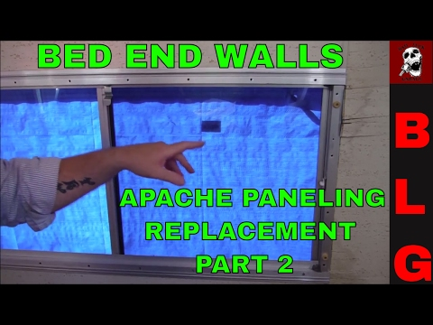 APACHE CAMPER PANELING REPLACEMENT PART 2 ( BED WINDOW AREA)