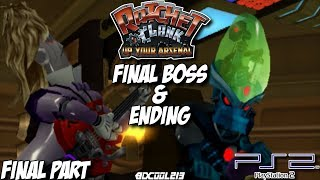 Ratchet and Clank: Up Your Arsenal Gameplay Walkthrough Part 18 - Final Boss Fight & Ending - PS2