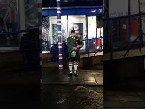 Piping lament - Ian Milne.  Ibrox 2nd January 2018.