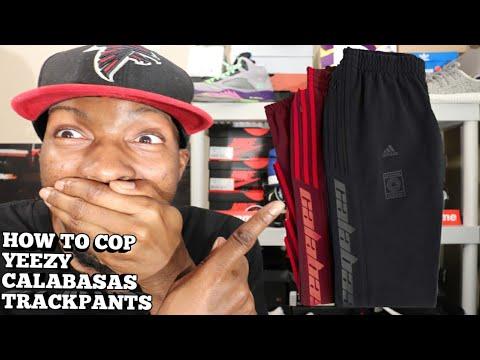 HOW TO COP YEEZY CALABASAS TRACK PANTS