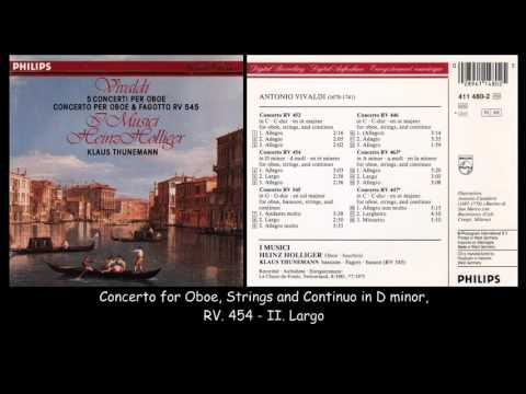 Vivaldi - Oboe Concertos - I Musici - Heinz Holliger - 1981