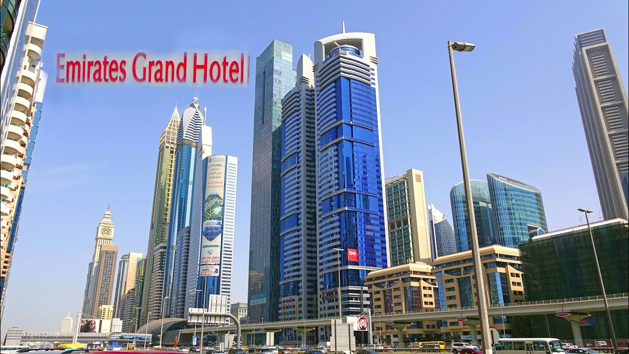Emirates grand hotel dubai uae 4k youtube for Emirates hotel dubai