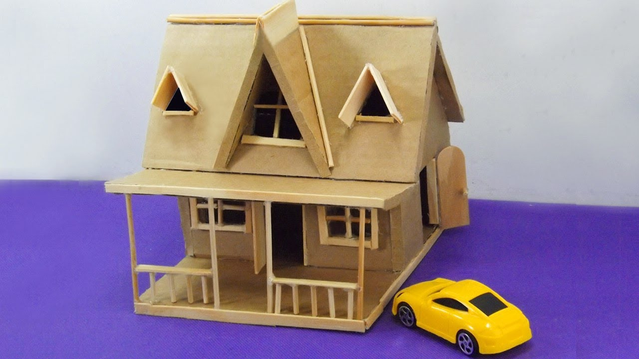 Good How To Make A Miniature Cardboard House #23 | Easy And Simple