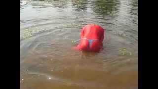 Dive in red Zentai