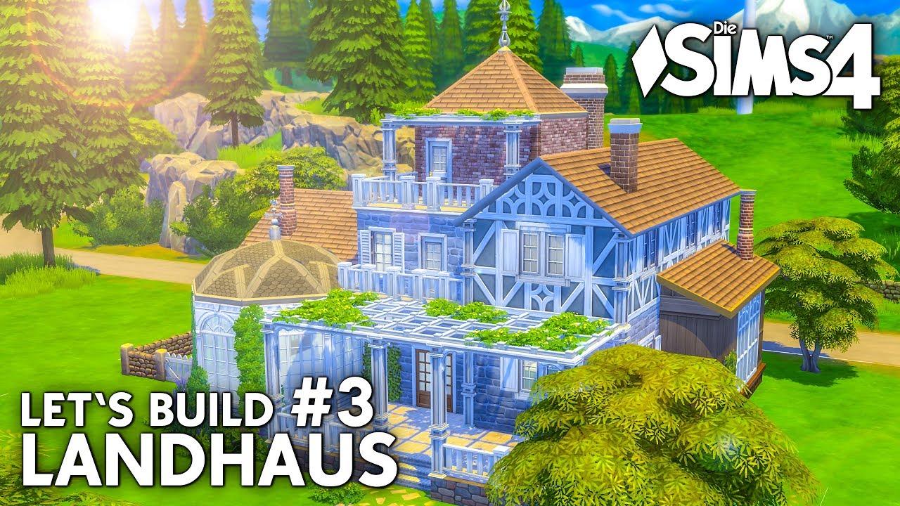 Die sims 4 haus bauen landhaus 3 garten teich for Landhaus bauen