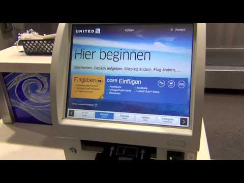 FIRST CLASS ROBOT SELF CHECK-IN | UNITED AIRLINES POLARIS | IST DAS DEUTSCHE ZUKUNFT!