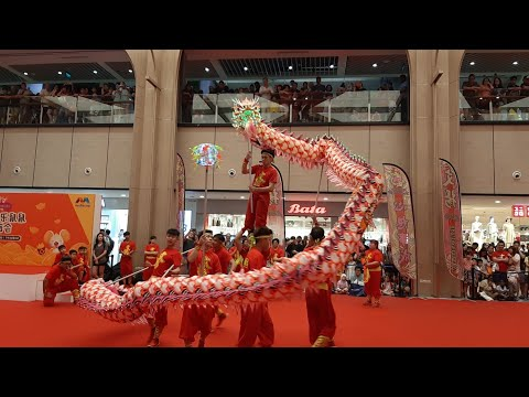 Singapore Wen Yang LED Dragon Dance and War Drums Performances at Yishun Northpoint City on 19/1/20