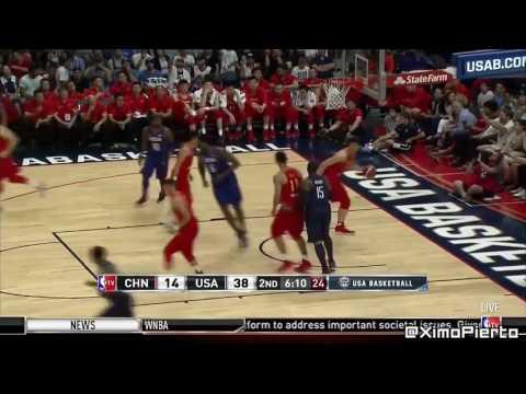 USA vs China   Full Game Highlights  Rio Olympic 2016 USA Basketball Showcase