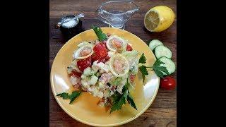 Салат- коктейль с красной рыбой.