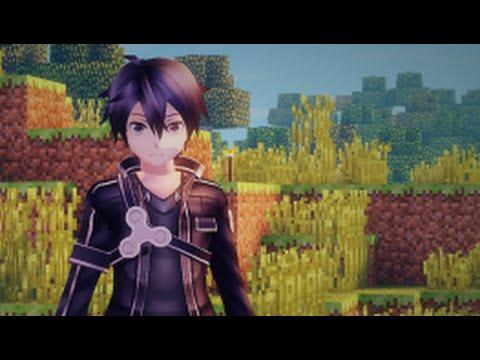 Minecraft Mod SAO Kirito Custom Steve Animations Release