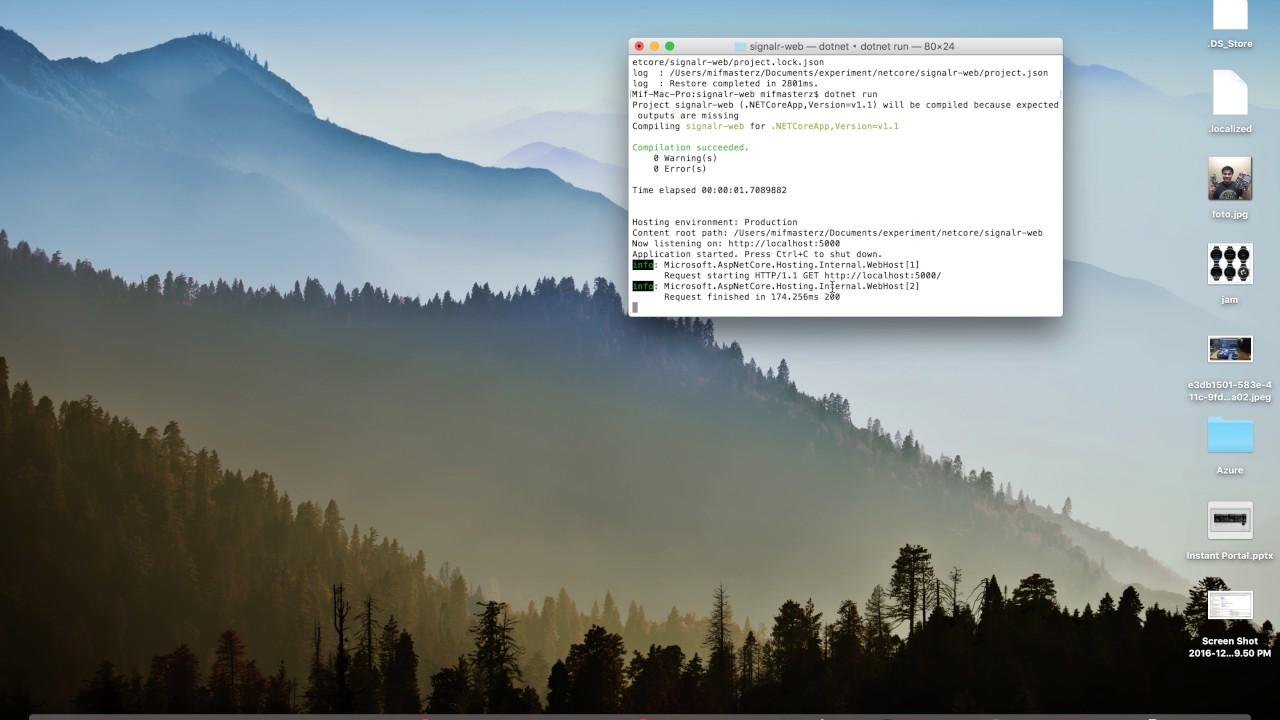 Video Blog - Tutorial: Asp Net Core with SignalR