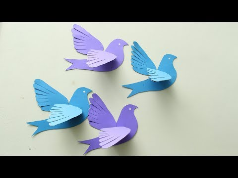 DIY 3D Paper Pigeons Making Tutorial - DIY Crafts