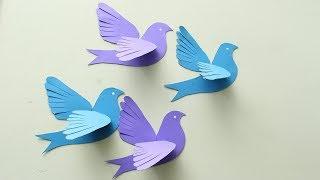 DIY 3D Paper Pigeons Making Tutorial - DIY Crafts