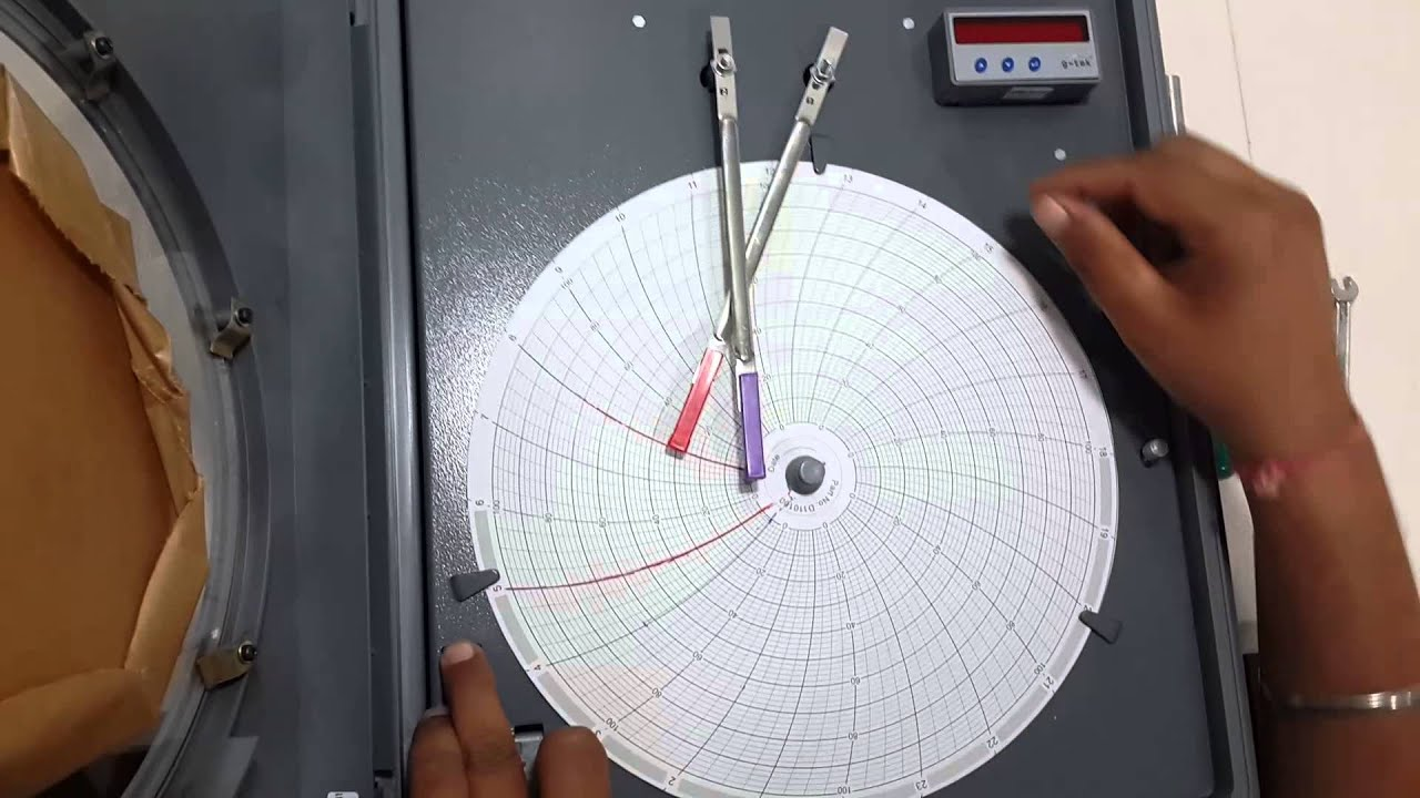 Pressure Chart Recorders : G tek how to change penarm in circular chart recorder