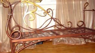 Ковка в стиле РЕТРО скамейка лавочка диванчик из металла кованый дизайн идеи образец фото видео