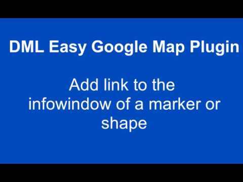 Add Link the infoWindow of the Markers, Polylines, Polygons and Circles