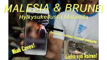 Malesia - Brunei - Malesia.  Hylkysukellusta paratiisissa, Niah Caves ja Varaani syö koiran!