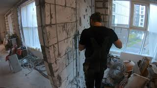 Ремонт квартиры 80м новостройка своими руками►# часть 6►Коммутация кабеля - Розетки