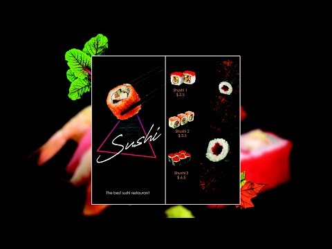 how to create sushi menu brochure design in photoshop cc and cs 6 2017