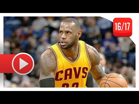 LeBron James Full Highlights vs Timberwolves (2017.02.14) - 25 Pts, 14 Ast, 8 Reb