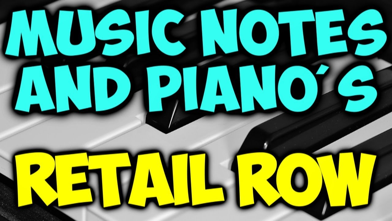 Music Notes Retail Row + PIANO