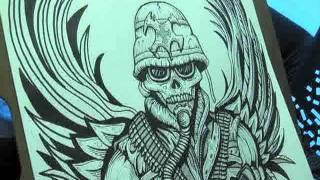 Battlecross – Pursuit of Honor – Time-Lapse Art