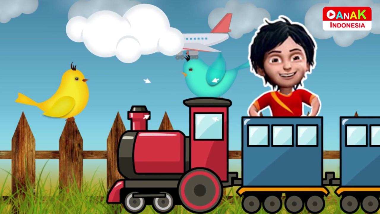 Lagu Anak Naik Kereta Api Shiva ANTV Dan Kawan Kawan Balapan