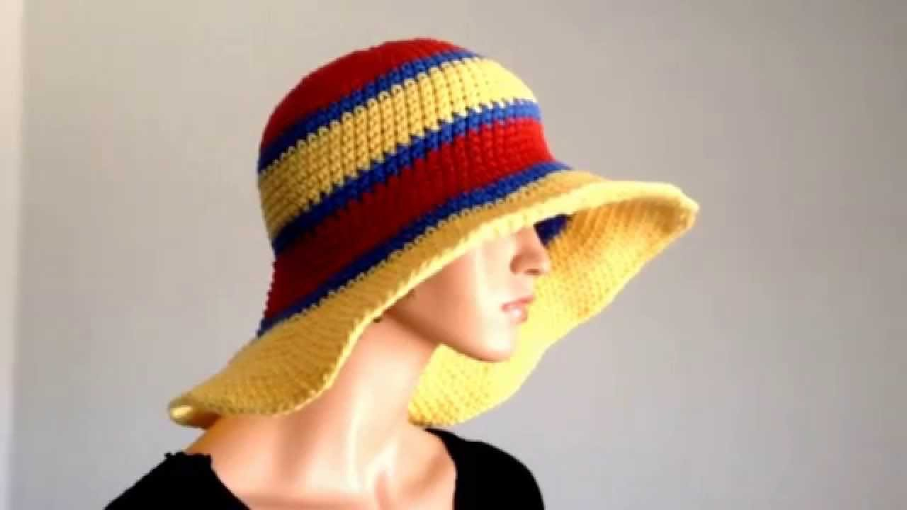 247882ff014 Summer Project 3  Crochet Cotton Large Brimmed Summer Hat - YouTube