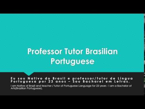 Professor Tutor Brasilian Portuguese