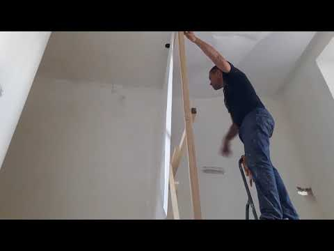 Способ поклейки обоев на потолок, как поклеить обои на потолок одному