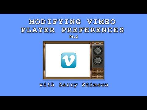 Modifying Vimeo Player Preferences