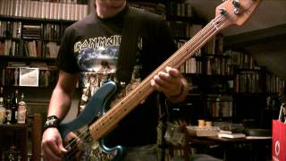 IRON MAIDEN - 2 Minutes To Midnight Bass Cover (Real Steve Harris Solo)