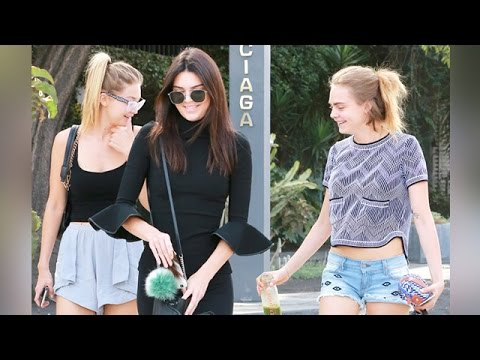 Kendall Jenner, Gigi Hadid And Cara Delevingne Hanging Out thumbnail