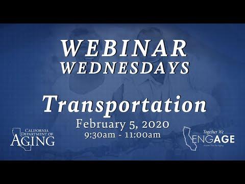 Webinar Wednesdays Transportation