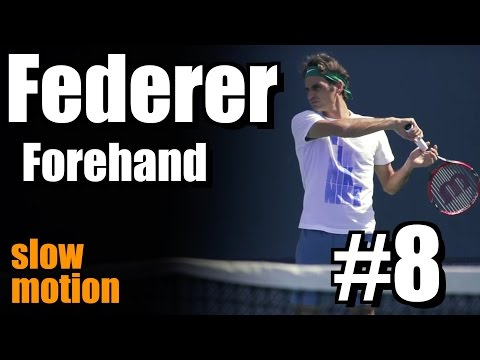 Roger Federer in Super Slow Motion | Forehand #8 | Western & Southern Open 2014