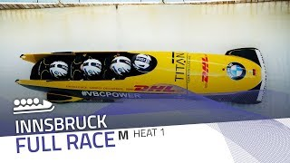 Innsbruck | BMW IBSF World Cup 2019/2020 - 4-Man Bobsleigh Heat 1 | IBSF Official