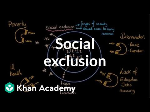 Social exclusion (segregation and social isolation) | Social Inequality | MCAT | Khan Academy