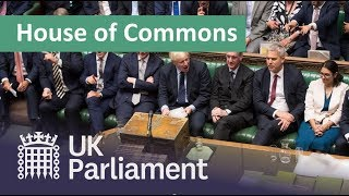 LIVE House of Commons 22 October 2019
