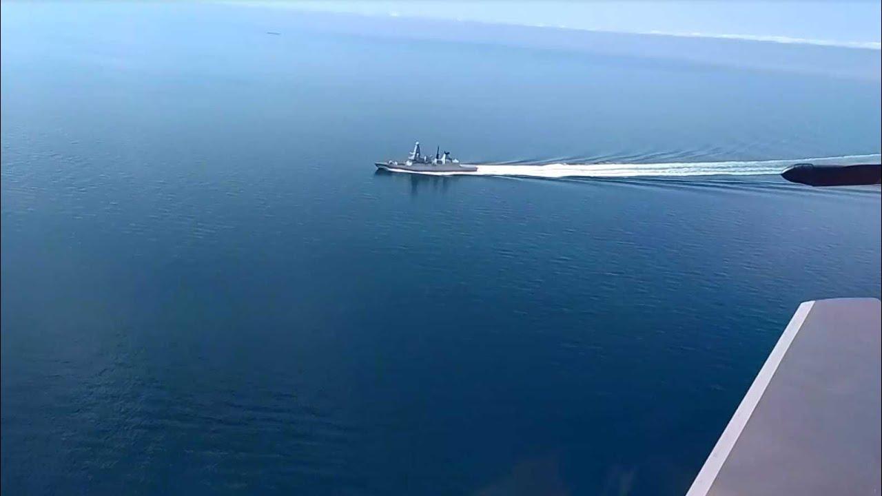 Видео пересечения госграницы РФ британским эсминцем
