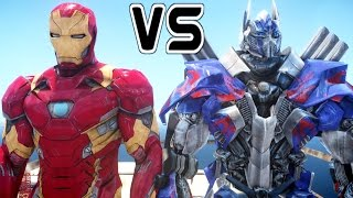 IRON MAN vs OPTIMUS PRIME - Epic Battle