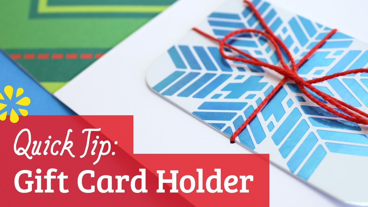 How to Make a Gift Card Holder - YouTube