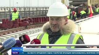 """Делегацию из Франции поразила укладка """"Бархатного пути"""" на Крымском мосту"""